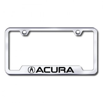 Autogold® - Acura Laser Etched Logo on Chrome Laser Etched Frame with Cut-Outs