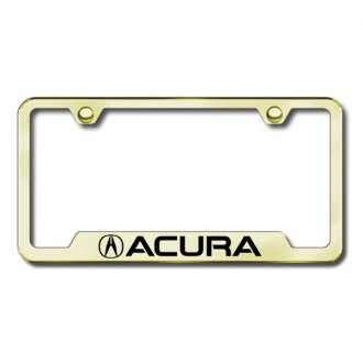 Autogold® - Acura Laser Etched Logo on Gold Laser Etched Frame with Cut-Outs