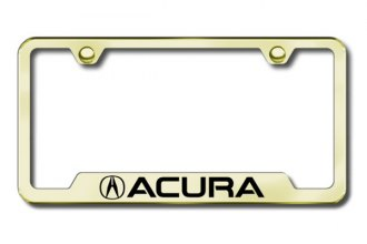 Autogold® - Acura Logo on Gold Laser Etched Frame