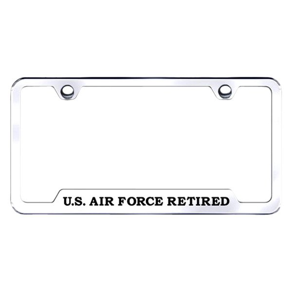 Autogold® GF.AIRFR.EC - Chrome License Plate Frame with Laser Etched ...