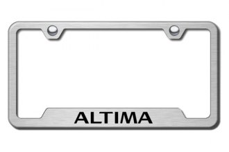 Autogold® - Altima Logo on Brushed Stainless Frame with Cut-Outs
