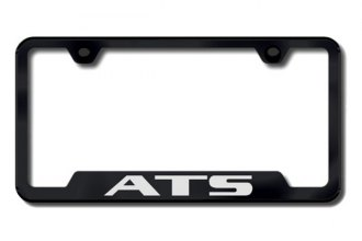 Autogold® - ATS Logo on Black Cut-Out License Plate Frame