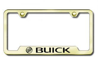Autogold® - Buick Logo on Gold Frame with Cut-Outs