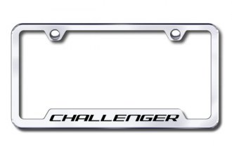 Autogold® - Challenger Logo on Chrome Frame with Cut-Outs
