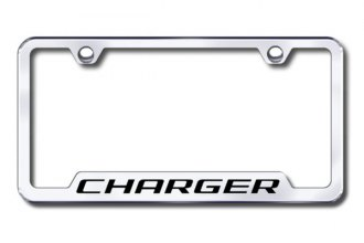 Autogold® - Charger Logo on Chrome Frame with Cut-Outs