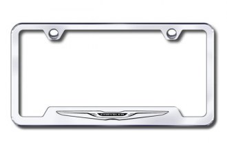 Autogold® - Chrysler Logo on Chrome Frame with Cut-Outs
