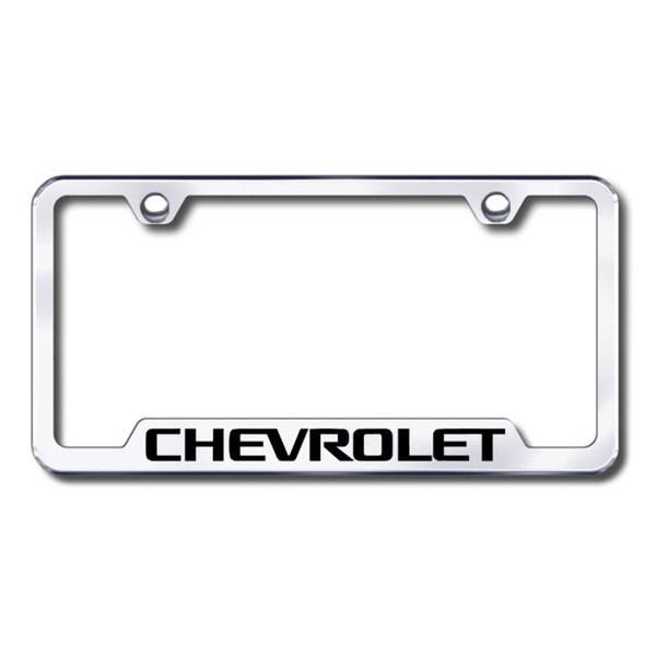 Autogold® - Chevy Logo on Chrome Frame with Cut-Outs