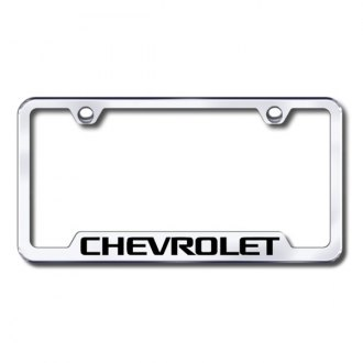 Autogold® - Chevy Laser Etched Logo on Chrome Frame with Cut-Outs