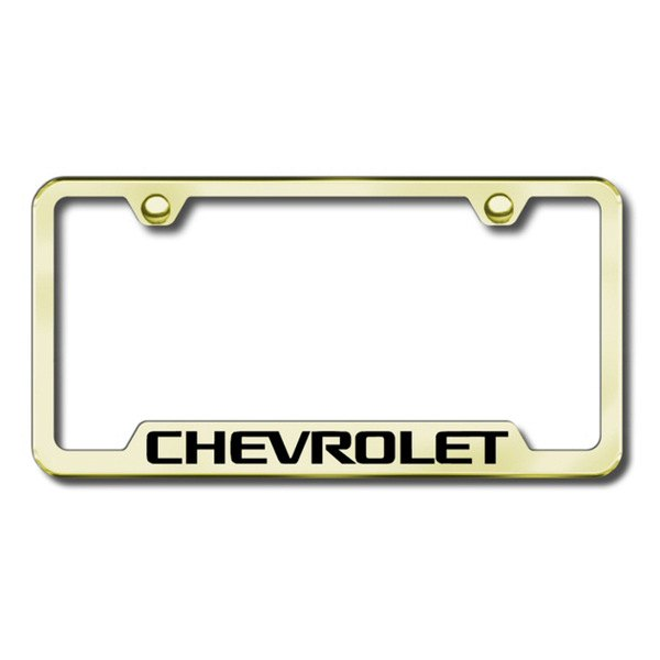Autogold® - Chevy Logo on Gold Frame with Cut-Outs