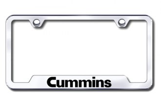Autogold® - Cummins Logo on Chrome License Plate Frame