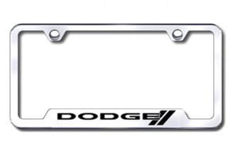 Autogold® - Dodge Logo on Chrome Frame with Cut-Outs