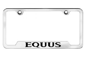 Autogold® - Equus Logo on Chrome Frame with Cut-Outs