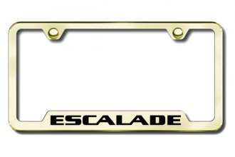 Autogold® - Escalade Logo on Gold License Plate Frame