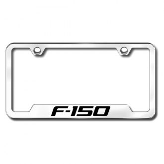 Autogold® - F-150 Laser Etched Logo on Chrome Frame with Cut-Outs