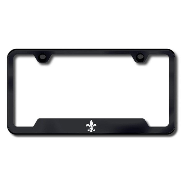 Autogold® - Fleur-De-Lis Logo on Black Frame with Cut-Outs