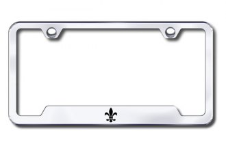 Autogold® - Fleur-De-Lis Logo on Chrome Frame with Cut-Outs