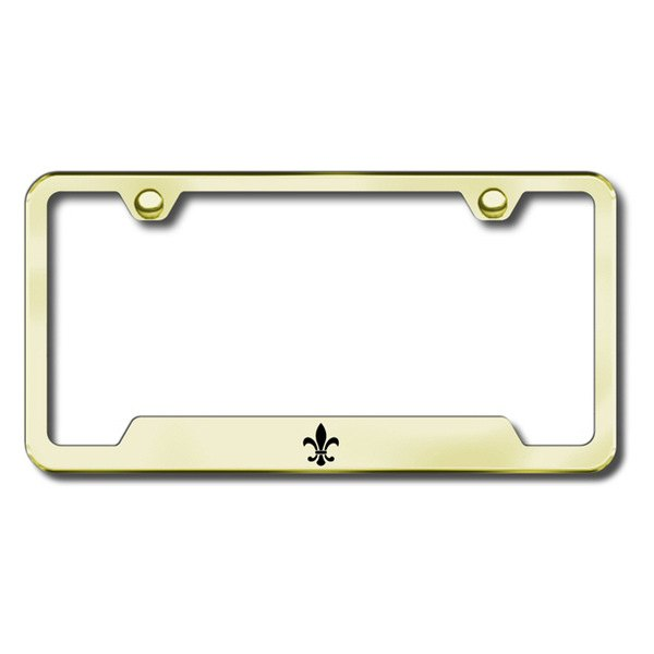 Autogold® - Fleur-De-Lis Logo on Gold Frame with Cut-Outs