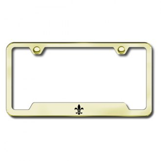 Autogold® - Fleur-De-Lis Laser Etched Logo on Gold Frame with Cut-Outs