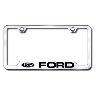 Autogold® - Ford Logo on Chrome Frame with Cut-Outs