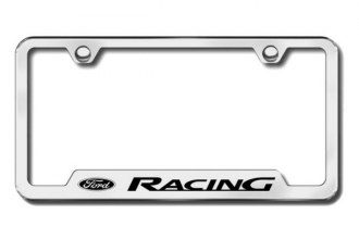 Autogold® - Ford Racing Logo on Chrome Frame