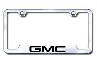 Autogold® - GMC Logo on Chrome Frame with Cut-Outs