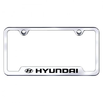 Autogold® - Hyundai Logo on Chrome Frame with Cut-Outs
