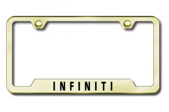 Autogold® - Infiniti Logo on Gold Frame with Cut-Outs