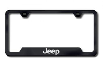 Autogold® - Jeep Logo on Black Frame with Cut-Outs