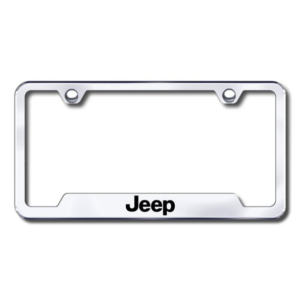 Autogold® - Jeep Logo on Chrome Frame with Cut-Outs