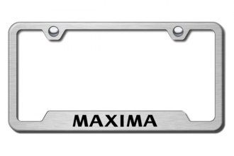 Autogold® - Maxima Logo on Brushed Stainless Frame with Cut-Outs