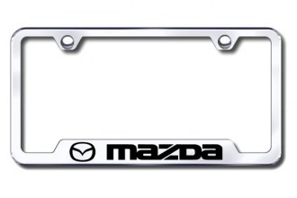 Autogold® - Mazda Logo on Chrome Frame with Cut-Outs