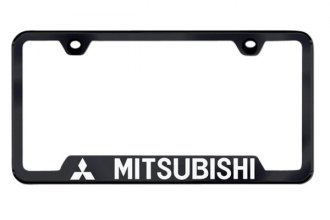 Autogold® - Mitsubishi Logo on Black Frame with Cut-Outs