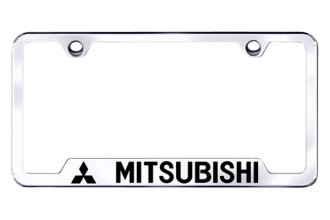 Autogold® - Mitsubishi Logo on Chrome Frame with Cut-Outs