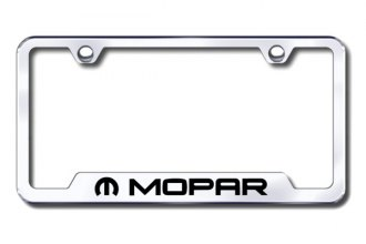 Autogold® - Mopar Logo on Chrome License Plate Frame with Cut-Outs