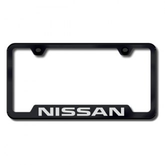 Autogold® - Nissan Laser Etched Logo on Black Frame with Cut-Outs