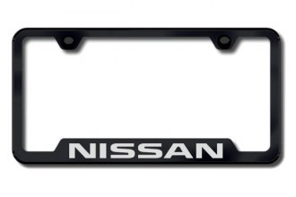 Autogold® - Nissan Logo on Black Frame with Cut-Outs