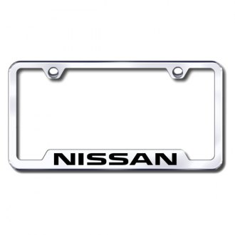 Autogold® - Nissan Laser Etched Logo on Chrome Frame with Cut-Outs