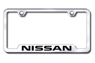 Autogold® - Nissan Logo on Chrome Frame with Cut-Outs