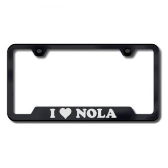 Autogold® - NOLA Laser Etched Logo on Black Frame with Cut-Outs