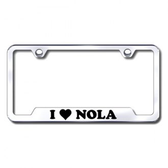 Autogold® - NOLA Laser Etched Logo on Stainless Steel Frame with Cut-Outs