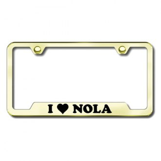 Autogold® - NOLA Laser Etched Logo on Gold License Frame with Cut-Outs