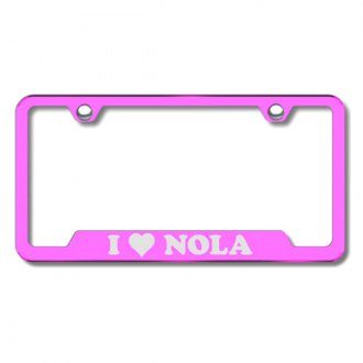 Autogold® - NOLA Laser Etched Logo on Pink Frame with Cut-Outs