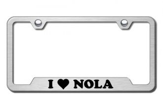 Autogold® - NOLA Logo on Brushed Stainless Frame