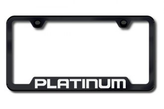 Autogold® - Platinum Logo on Black Frame