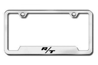 Autogold® - Dodge R/T Logo on Chrome License Plate Frame