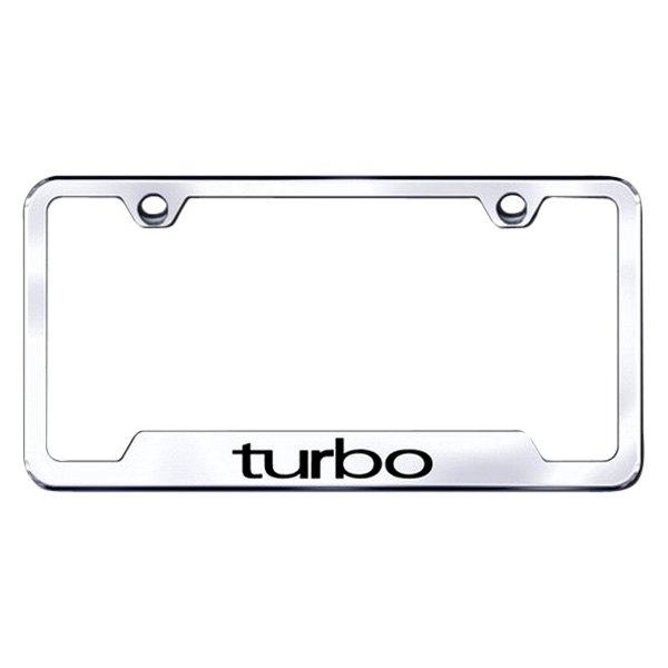 Autogold® - License Plate Frame with Laser Etched Turbo Logo and Cut-Outs