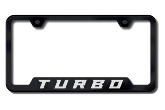 Autogold® - Turbo New Logo on Black License Plate Frame
