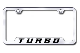 Autogold® - Turbo New Logo on Chrome License Plate Frame