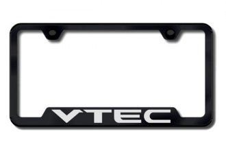 Autogold® - VTEC Chrome Logo on Black Frame