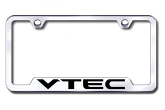Autogold® - VTEC Chrome Logo on Chrome Frame